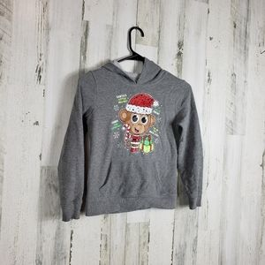 5/$25 Girls justice Christmas hoodie size 7